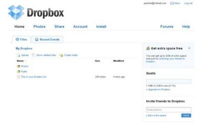 dropbox Layanan terbaik backup online gratis