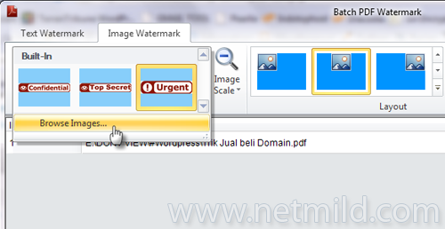 Image watermark Watermark Multiple File PDF dengan Batch PDF Watermark